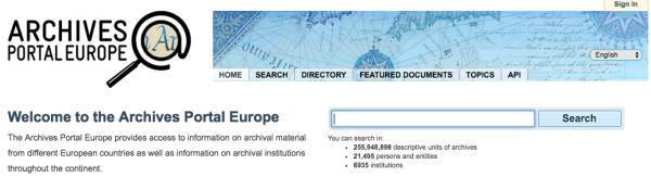 Archives Portal Europe