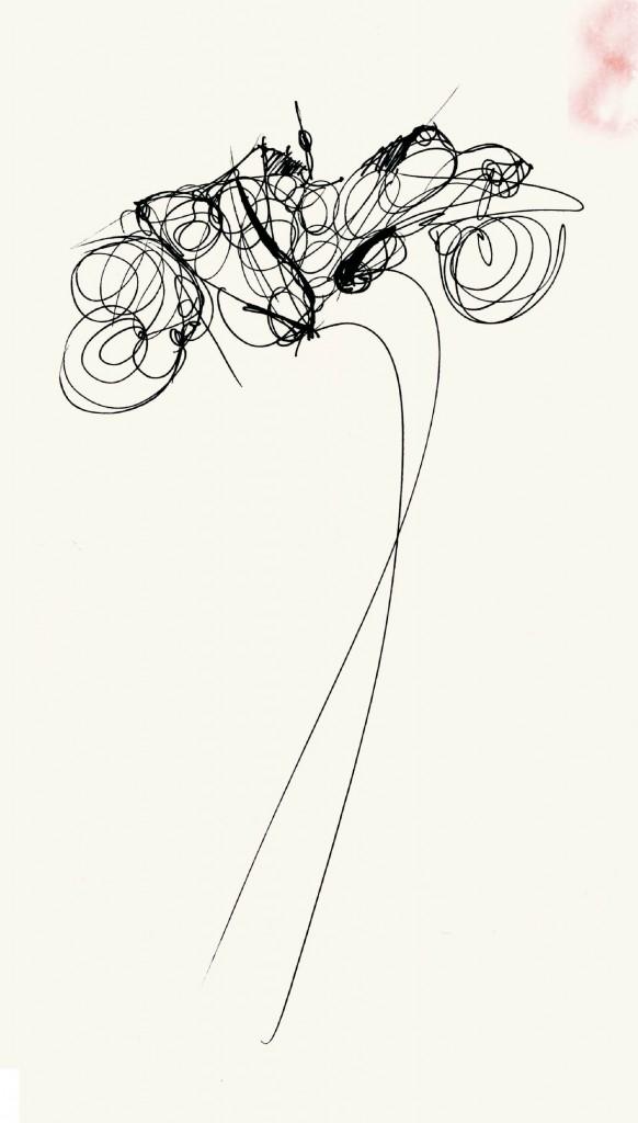 Silk grisaille trench coat. Prêt-à-Porter, Spring/Summer 1988. Pencil, fine black felt-tip pen, colored felt-tip pen on construction paper. Courtesy Fondazione Gianfranco Ferré, all rights reserved.