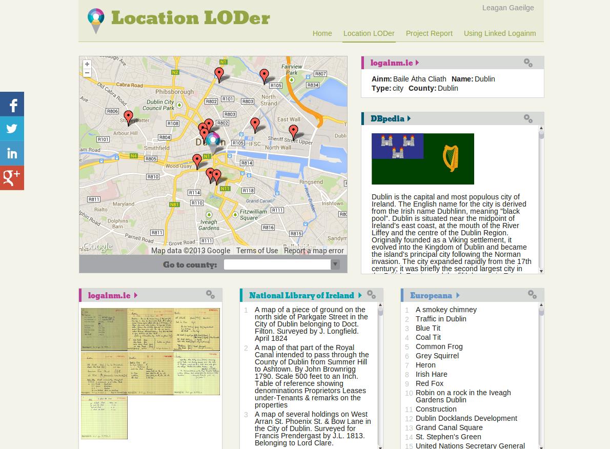 Europeana Linked Open Data feeds Irish place name database ...