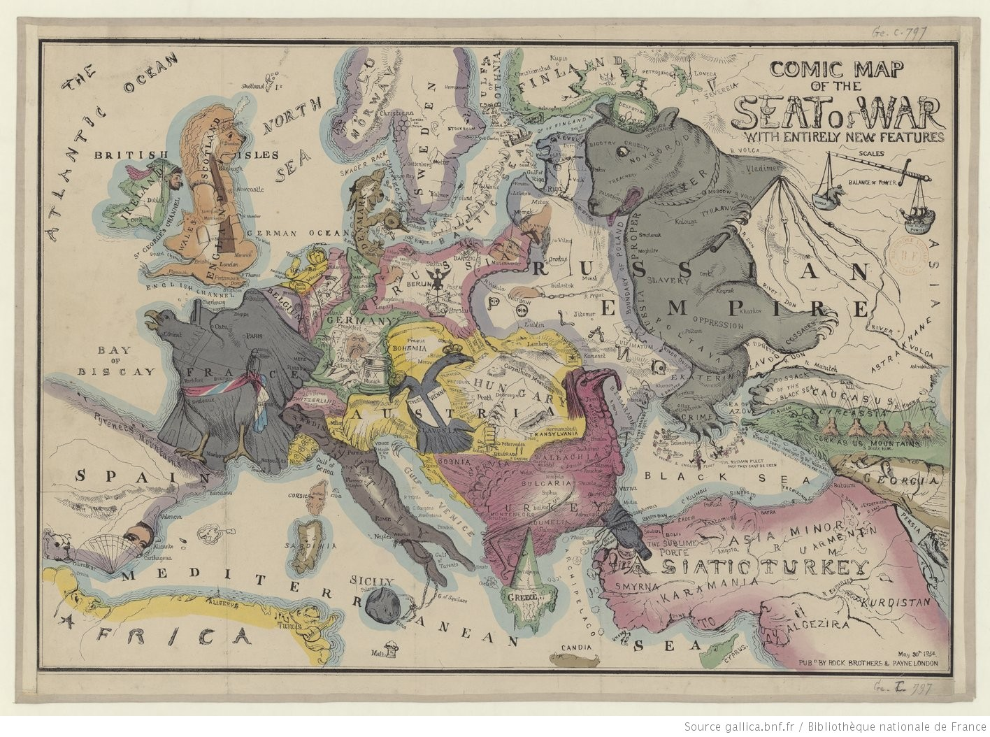 Maps for makers: Satirical, political and unusual maps | Europeana Pro