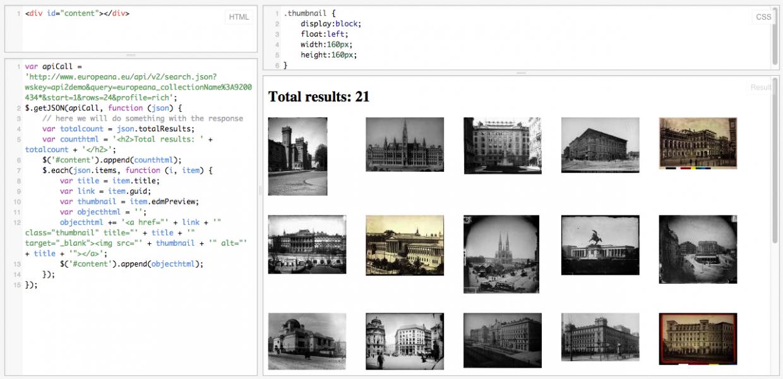Using the Europeana API - a beginners guide with jQuery   Europeana Pro