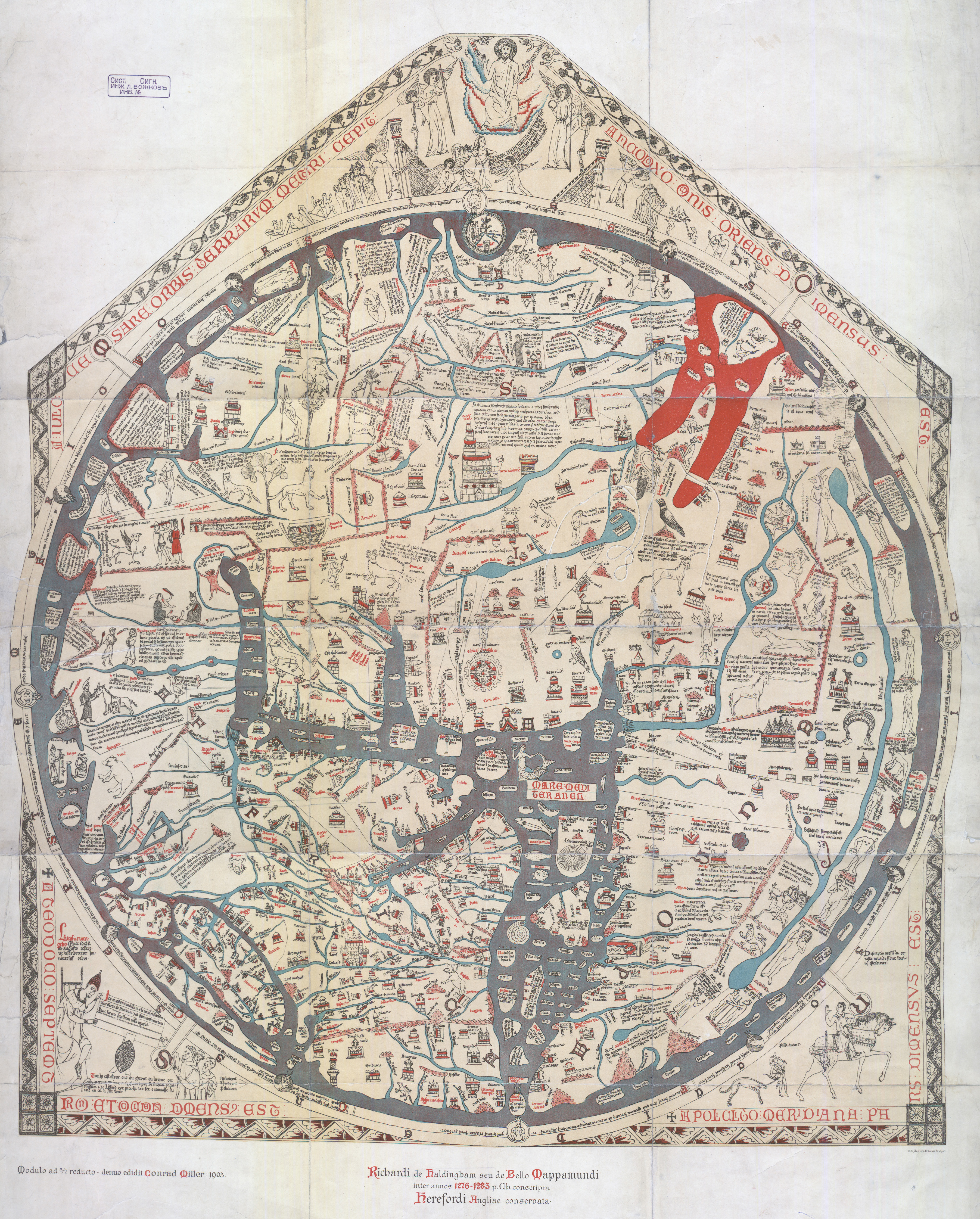 Maps for makers representing earth through time europeana pro typical of many medieval maps the center of the world is presented as the holy city of jerusalem earth is depicted as a disk and as land surrounded by gumiabroncs Choice Image