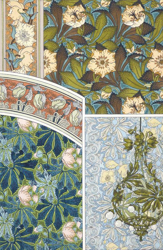 Art Nouveau Drawings Of Plants And Ornaments Europeana Pro