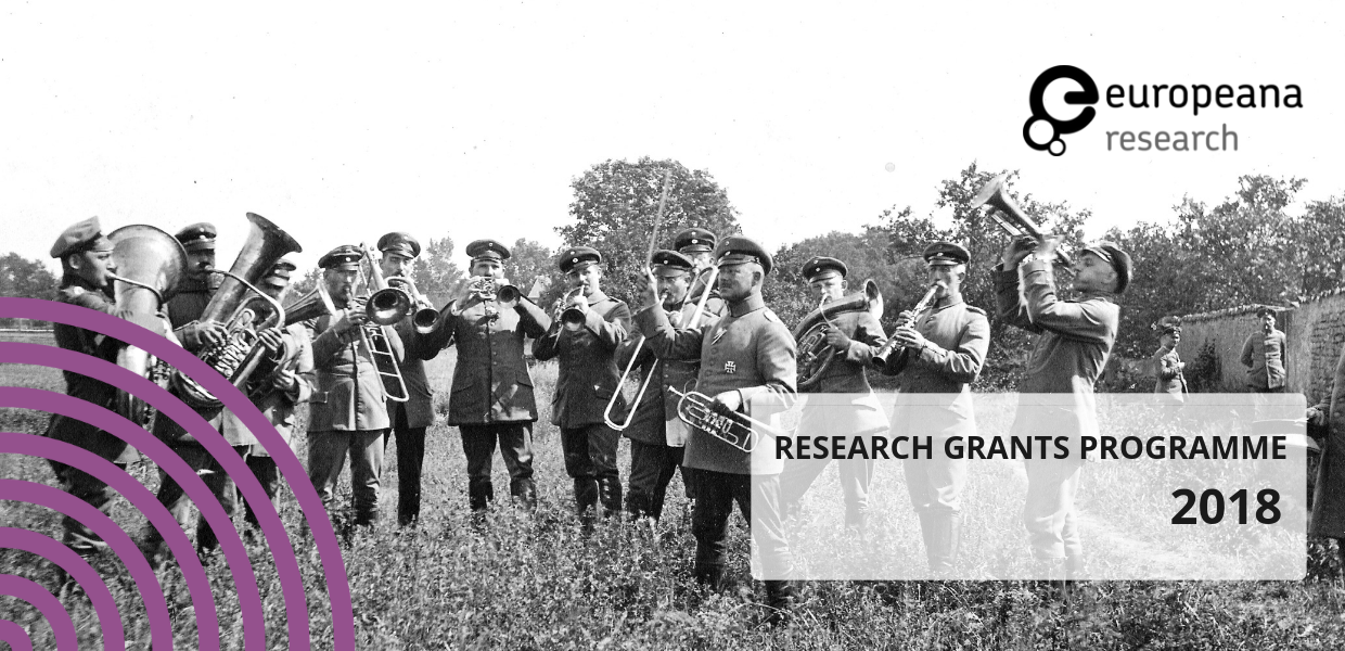 Military band, Lorraine, 1915, photographer unknown, Ralf Kranz/Europeana 1914-1918 CC BY-SA