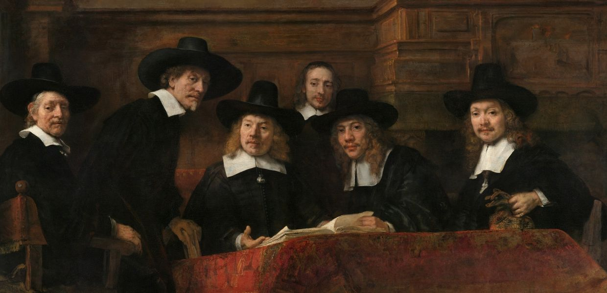 The Sampling Officials of the Amsterdam Drapers' Guild, known as 'The Syndics' | Rijn, Rembrandt van