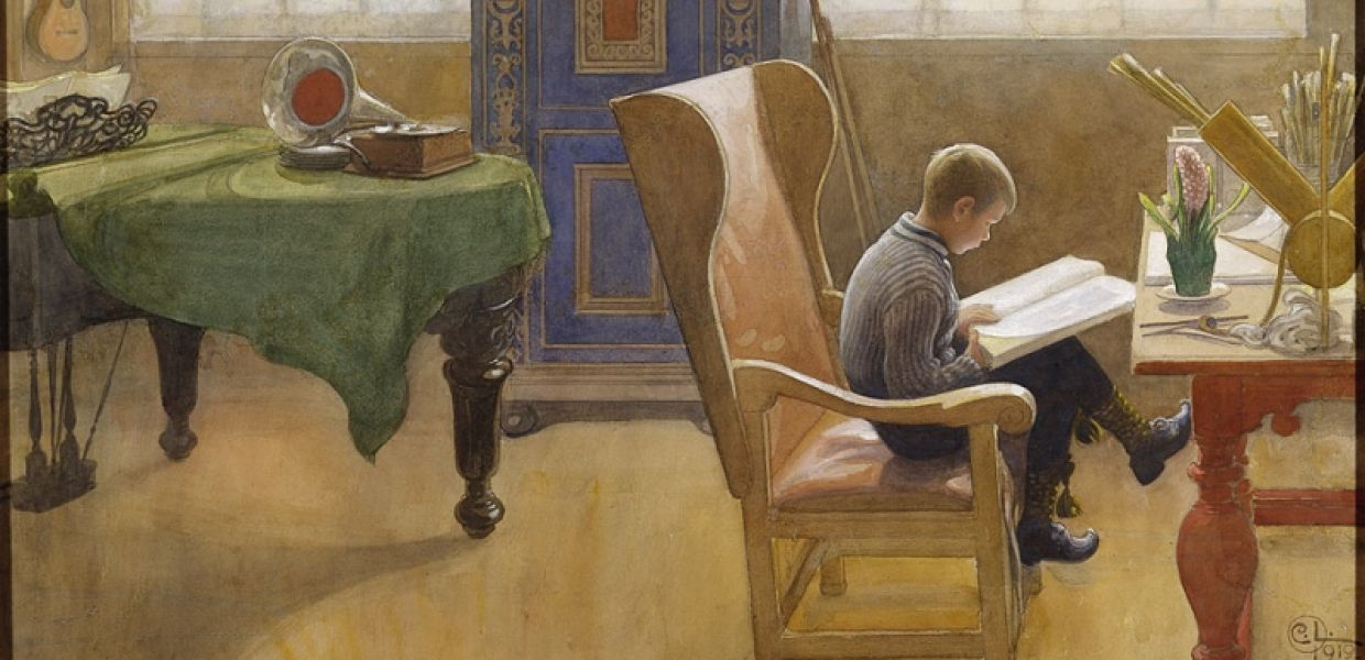 Esbjörn at the Study Corner | Carl Larsson, Nationalmuseum, Sweden, Public Domain.