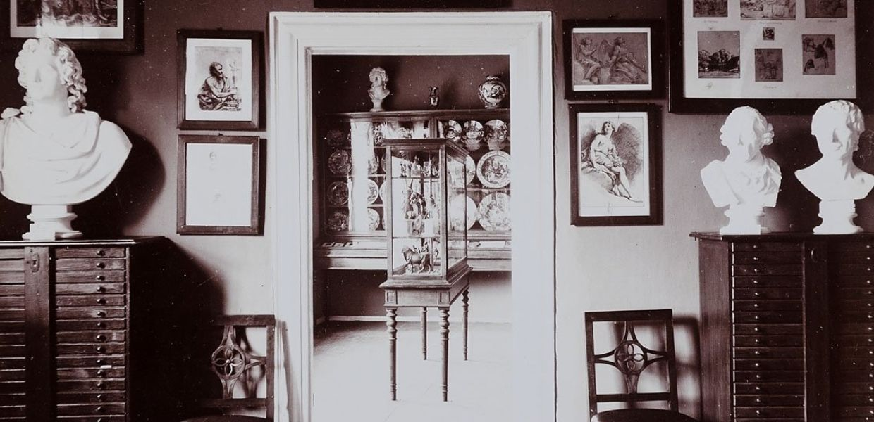 Collection room with a view of the majolica room, from Europeana Collections exhibition 'An Eye for Detail'