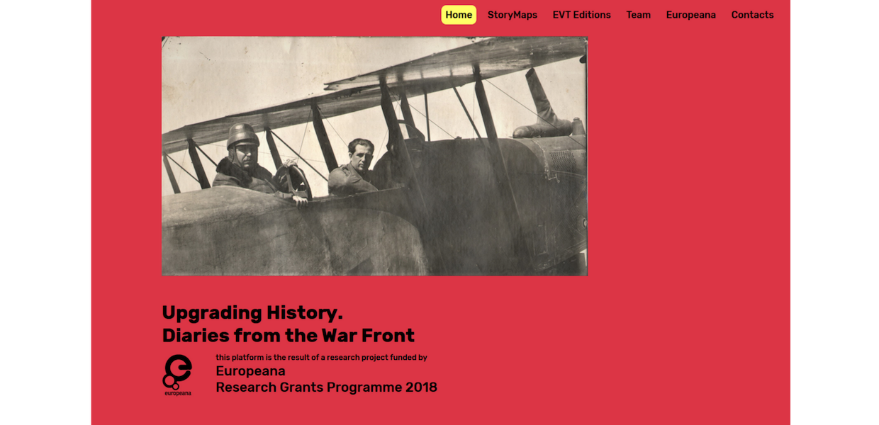 Upgrading History. Diaries from the War Front