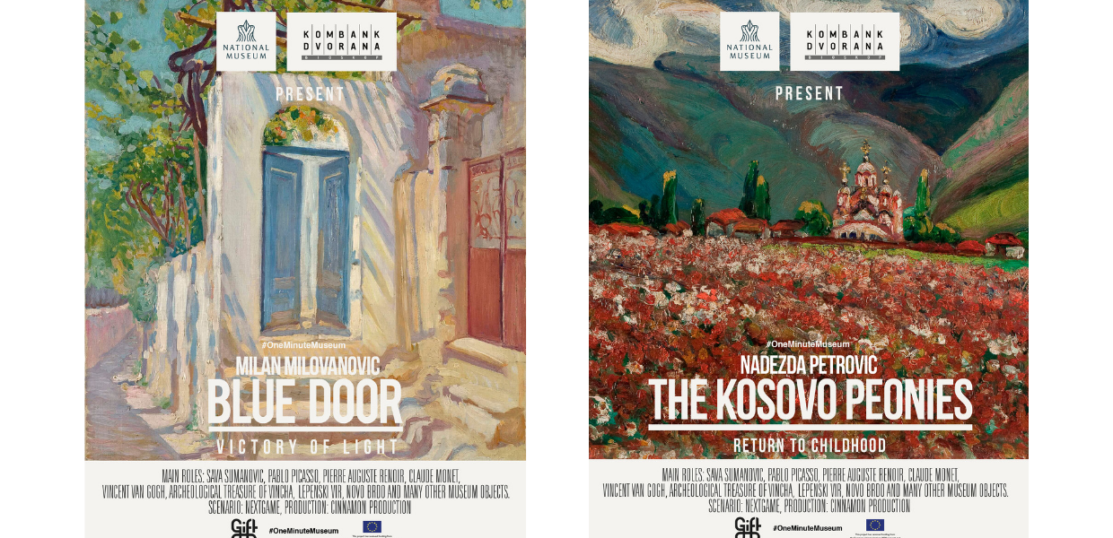 Two movie posters from #OneMinuteMuseum, copyright CC BY-NC-ND Kombank Dvorana