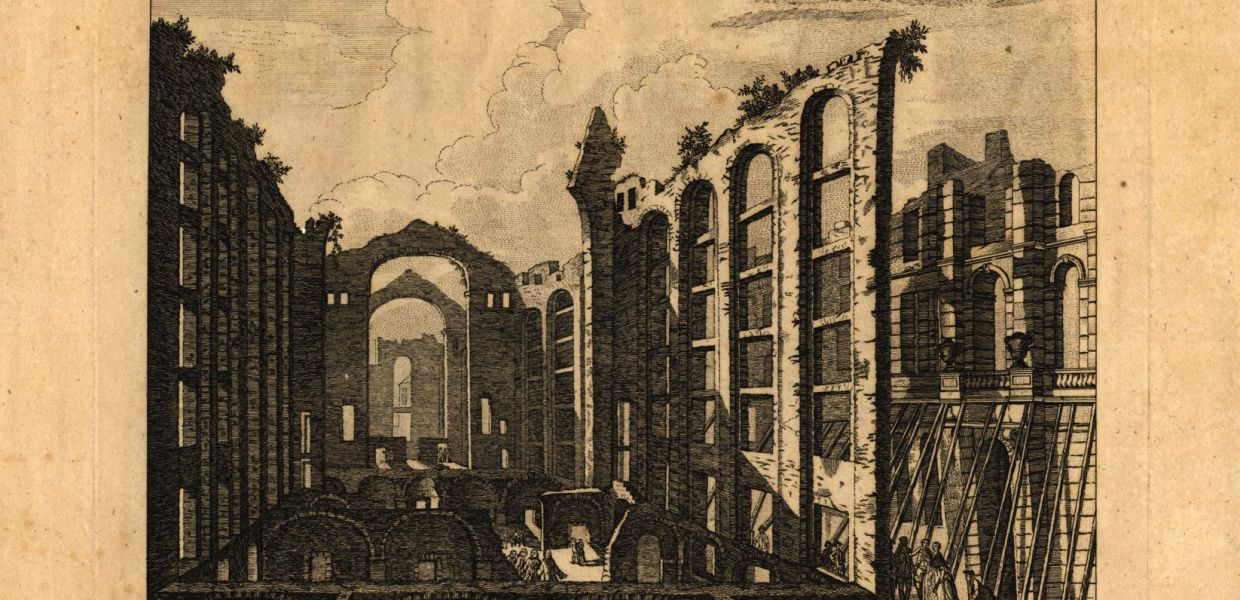 Ruins of Lisbon after the EarthQuake on the 1st November 1755: the Opera House, 1755 Henry Roberts, Biblioteca Nacional de Portugal, Public Domain Mark