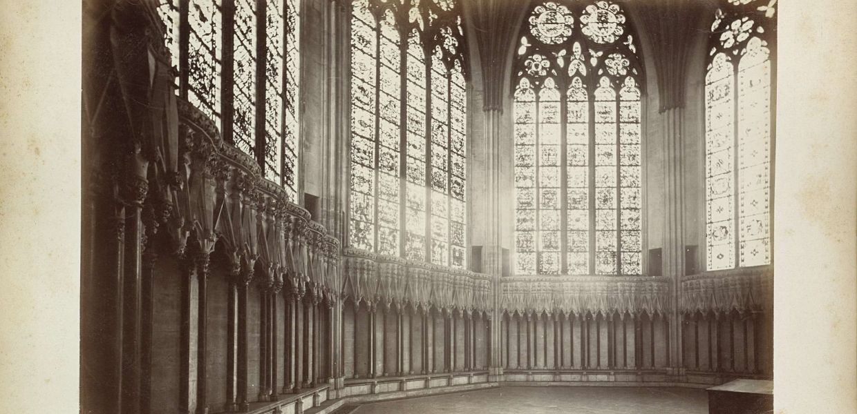 Interior of the Chapter Room of the Cathedral of York Chapter House, York Minster, 1899 Albumen print, Rijksmuseum, Public Domain Mark