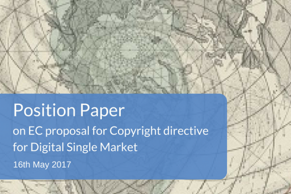 Position on the Commission's proposal for a Directive on copyright in the Digital Single Market COM(2016) 593