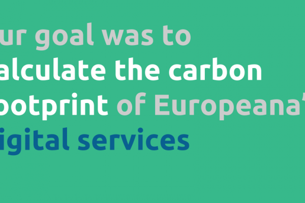 Europeana's Carbon Footprint