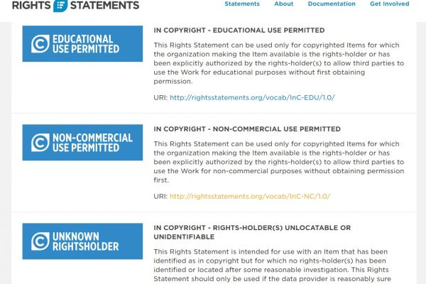 Rightsstatements.org launches at DPLAfest 2016 in Washington DC