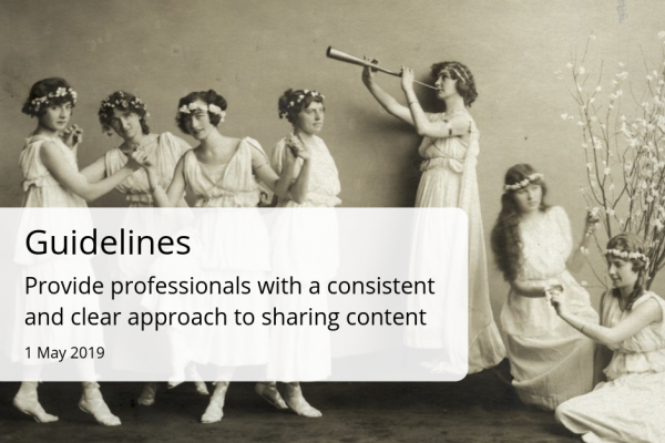 Guidelines for sharing content online, for professionals