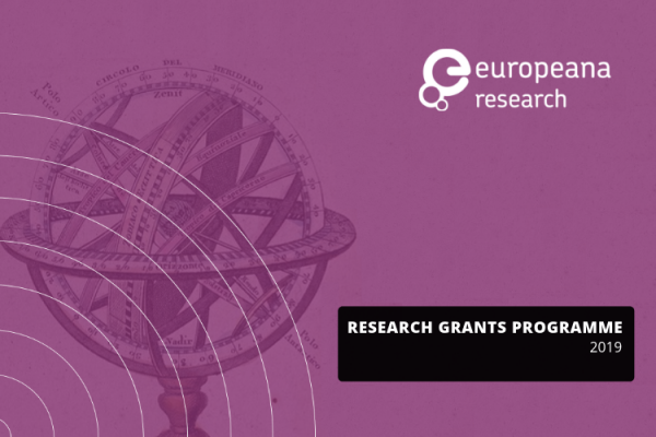 Europeana Research Grants Programme - Submission Form 2019