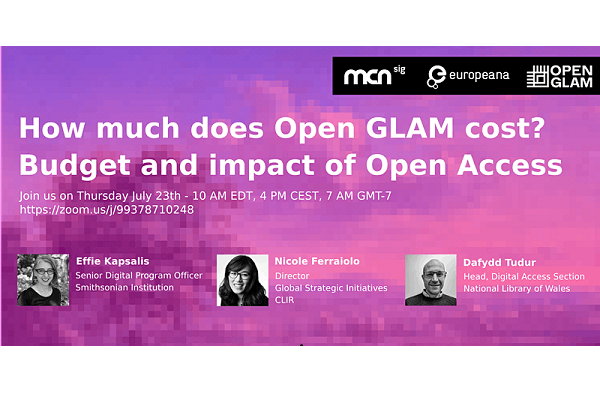 How much does Open GLAM cost? Budget and impact of Open Access