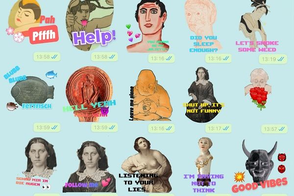 Chatting with heritage! Creating stickers for Whatsapp, iMessage and Telegram with Public Domain images