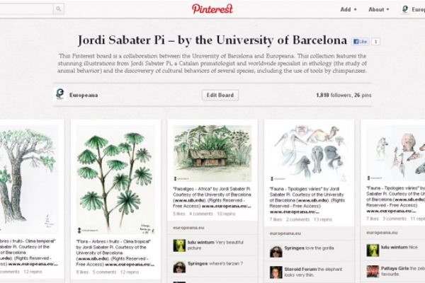 Case Study: Europeana & Partners on Pinterest