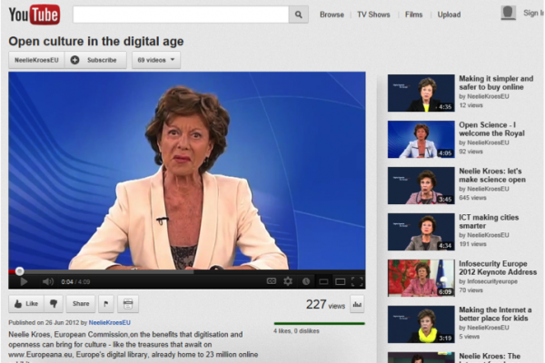 "Neelie Kroes: ""I fully support Europeana"""