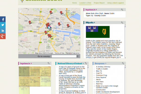 Europeana Linked Open Data feeds Irish place name database