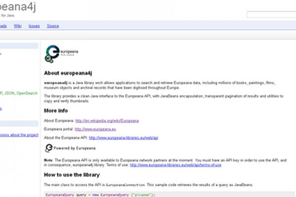 Europeana java Client library (formerly europeana4j)
