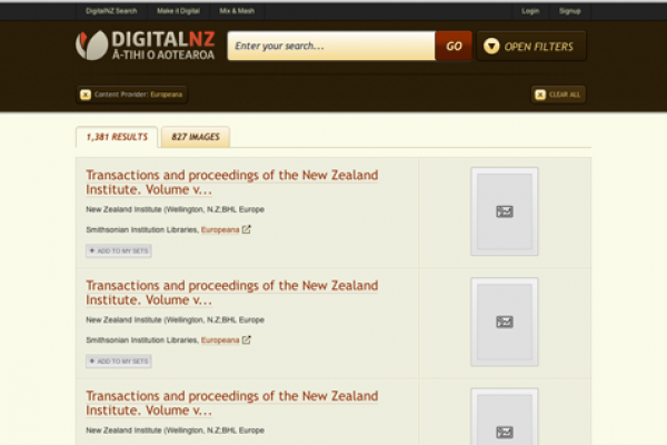 Digital NZ - National Library of New Zealand