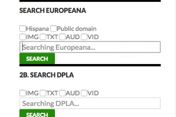 DPLA & Europeana Search Form WordPress plugin
