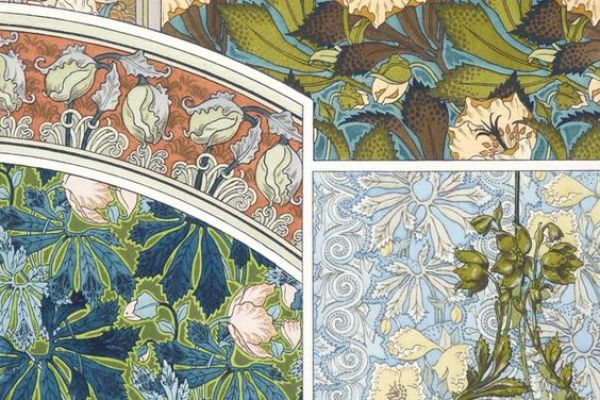 Art Nouveau: Drawings of plants and ornaments