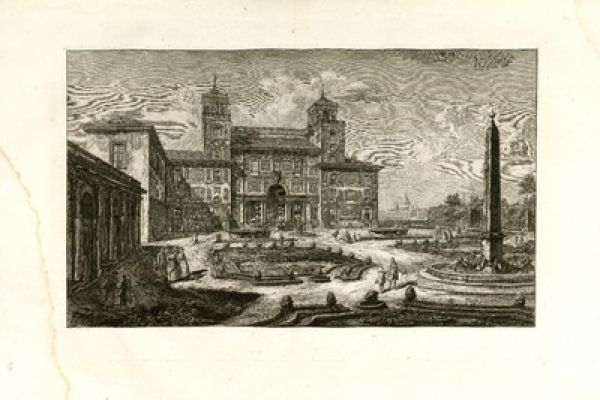 Piranesi engravings of the Complutense University Library of Madrid