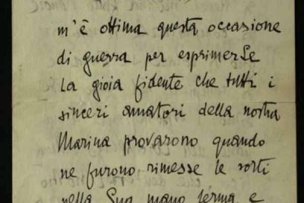 Letters by Italian personalities during World War I