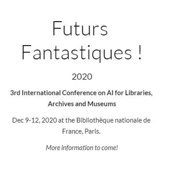3rd International Conference on AI for Libraries, Archives and Museums
