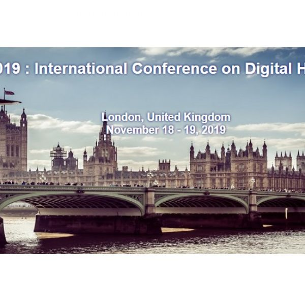 ICDH 2019 : International Conference on Digital Heritage