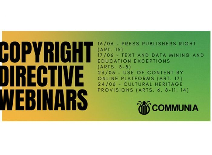 Copyright Directive Webinars: Cultural Heritage Provisions