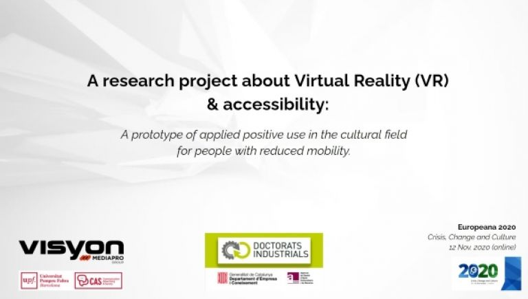 A research project about Virtual Reality (VR) & accessibility