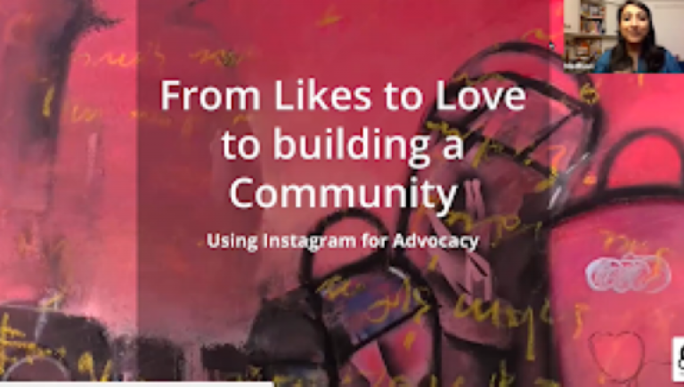 From likes to loves to collaborations : using social media for advocacy & to build a community