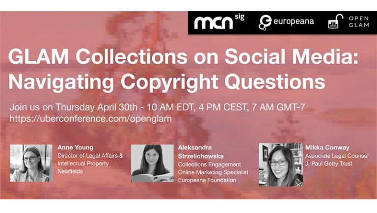 GLAM Collections on Social Media: Navigating Copyright Questions
