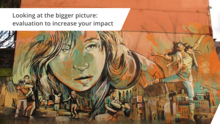 Looking at the bigger picture: evaluation to increase your impact