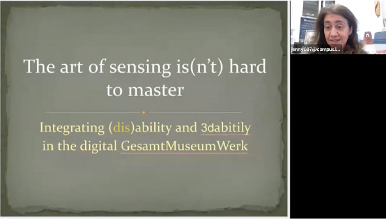 The art of sensing is(n't) hard to master: Integrating (dis)ability in the digital GesamtMuseumwerk