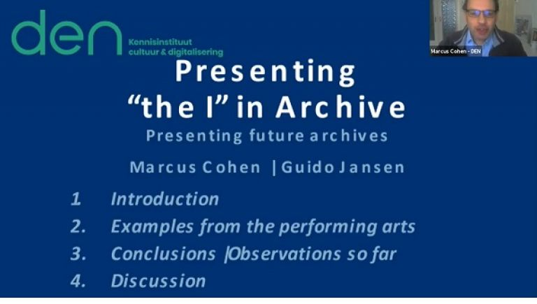 "Presenting ""the I"" in Archive. Presenting future archives"