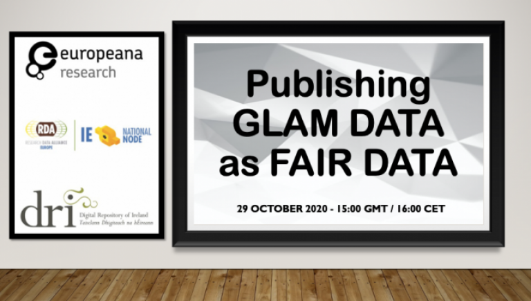 Publishing GLAM data as FAIR data