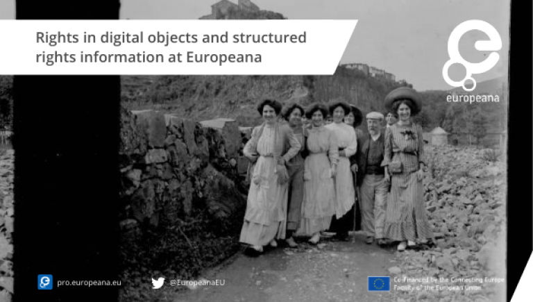 Rights in digital objects and structured rights information at Europeana