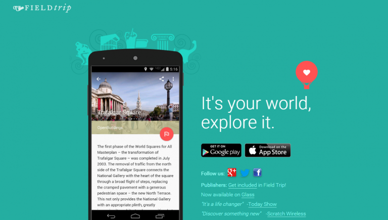 Europeana's pilot on Google's Field Trip app